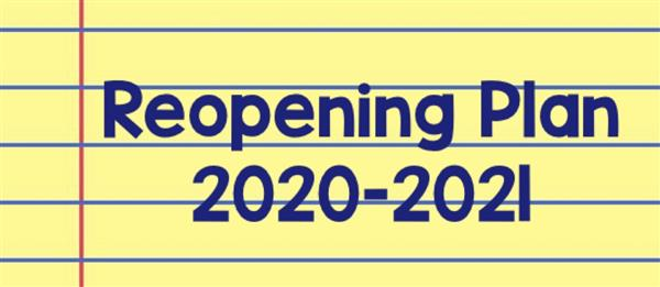 WES 2020-2021 Reopening Plan ~ Click for more details
