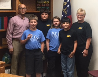 Board Recognizes WES BETA Club Students