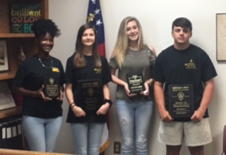 Board Recognizes JCHS BETA Club Students