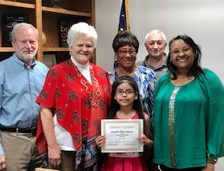 "Jacqueline Perez-Velazquez from LA was named ""Student of the Month"" for the Month of March"