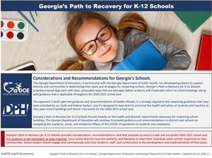 Ga Path to Recovery